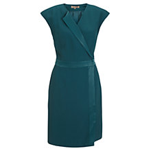 Buy Jigsaw Crepe Wrap Dress, Green Online at johnlewis.com