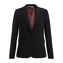 Buy Jigsaw Wool Jacket, Black Online at johnlewis.com