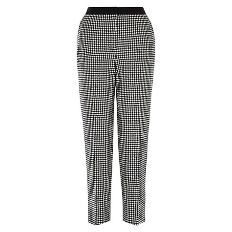 Buy Hobbs Letty Trousers, Black/Ivory Online at johnlewis.com