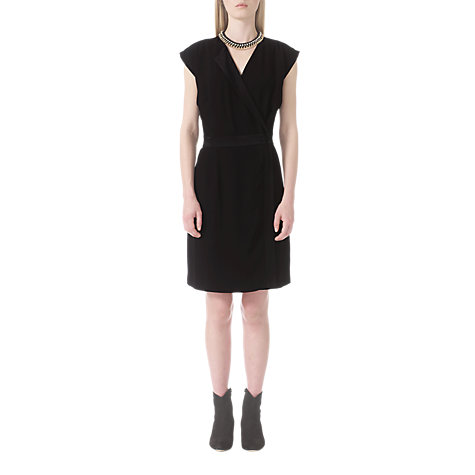 Buy Jigsaw Crepe Wrap Dress, Black Online at johnlewis.com