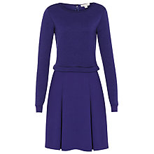 Buy Reiss Kula Quilted Jersey Dress, Cobalt Online at johnlewis.com