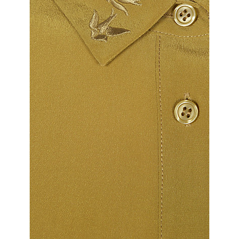 Buy NW3 by Hobbs Little Birdie Shirt, Sage Gold Online at johnlewis.com