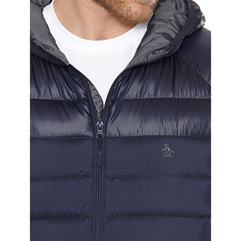 Buy Original Penguin Down Filled Hooded Jacket, Dark Sapphire Navy Online at johnlewis.com