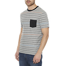 Buy Original Penguin Multi-Tone Stripe T-Shirt, Rain Grey Heather Online at johnlewis.com