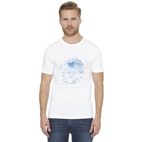 Buy Original Penguin Graphic Logo T-Shirt, Bright White Online at johnlewis.com