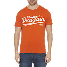 Buy Original Penguin Script Logo T-Shirt Online at johnlewis.com