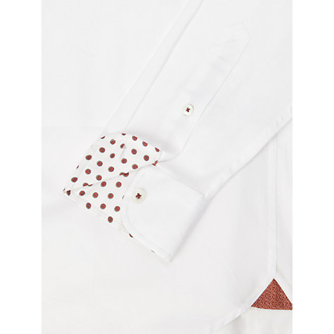 Buy Ted Baker Pinups Collar Bar Shirt, White Online at johnlewis.com
