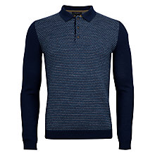 Buy Ted Baker Denton Knitted Polo Top, Navy Online at johnlewis.com