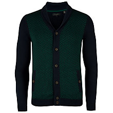 Buy Ted Baker Azzo Cotton Cardigan, Navy/Green Online at johnlewis.com
