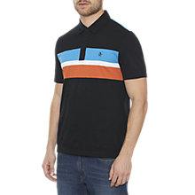 Buy Original Penguin Striped Polo Top, True Black/Multi Online at johnlewis.com