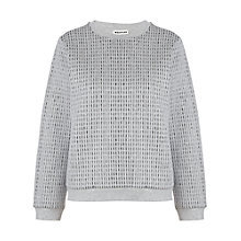 Buy Whistles Casey Dash Sweatshirt, Grey Online at johnlewis.com