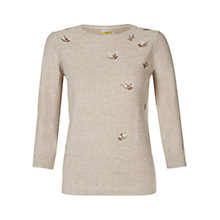 Buy NW3 by Hobbs Bird Jumper, Caramel Beige Online at johnlewis.com