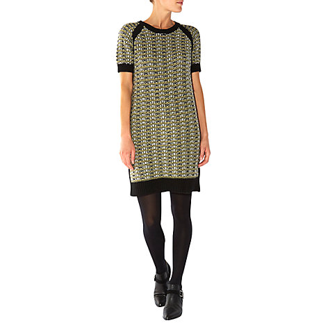 Buy NW3 by Hobbs Checked Sweater Dress, Black Multi Online at johnlewis.com