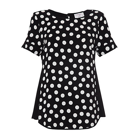 Buy allegra by Allegra Hicks Polka Dot Lucy Top, Black Online at johnlewis.com