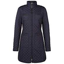 Buy Hobbs Polly Coat, Navy Online at johnlewis.com