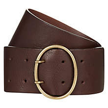 Buy Hobbs Katya Belt, Chocolate Online at johnlewis.com