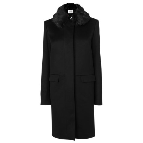 Buy L.K. Bennett Aoste Detachable Faux Fur Collar Coat Online at johnlewis.com