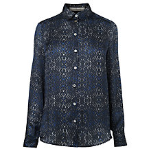 Buy L.K. Bennett Elssa Silk Shirt, Navy Online at johnlewis.com