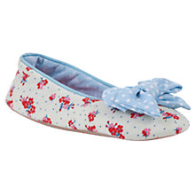 Buy John Lewis Girl Floral Ballet Slippers, Cream/Pink Online at johnlewis.com