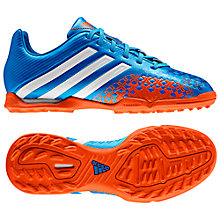 Buy Adidas Absolado LZ TRX TF Football Boots, Blue/Red Online at johnlewis.com