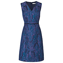 Buy L.K. Bennett Aminta Jacquard A-Line Dress, Emerald Green Online at johnlewis.com