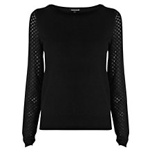 Buy Warehouse Pointelle Sleeve Jumper Online at johnlewis.com