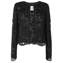 Buy L.K. Bennett Liliyan Lace Jacket, Black Online at johnlewis.com