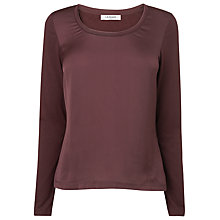 Buy L.K. Bennett Lila Top, Bordeaux Online at johnlewis.com