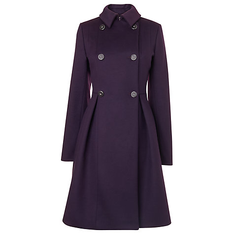 Buy L.K. Bennett Danisi Double Breasted Coat, Deep Purple Online at johnlewis.com