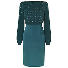 Buy L.K. Bennett Lavinia Diamante Top Dress, Peacock Blue Online at johnlewis.com
