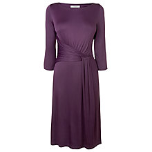 Buy L.K. Bennett Celosina Twist Front Dress, Dark Purple Online at johnlewis.com