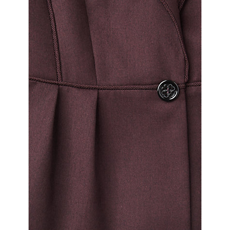 Buy L.K. Bennett Bryna Flannel Jacket, Burgundy Online at johnlewis.com