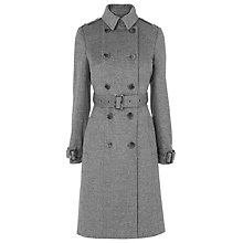 Buy L.K. Bennett Minnie Wool Trench Coat, Grey Melange Online at johnlewis.com