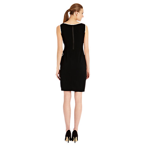 Buy Coast Tipped Irah Dress, Black Online at johnlewis.com