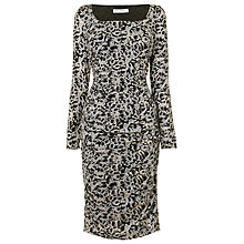 Buy L.K. Bennett Prinia Leopard Print Dress, Soft Mink Online at johnlewis.com