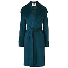 Buy L.K. Bennett Hayley Belted Coat, Peacock Blue Online at johnlewis.com