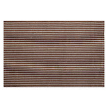 Buy John Lewis Jute Stripe Rug, Mocha/ Grey Online at johnlewis.com