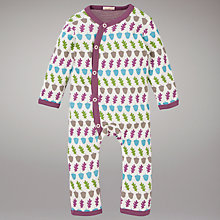 Buy Organics For Kids Acorn Romper, Raspberry/Multi Online at johnlewis.com