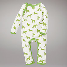 Buy Organics For Kids Green Dogs Romper, Green Online at johnlewis.com