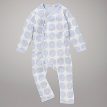 Buy Organics For Kids Spot Romper, Blue Online at johnlewis.com