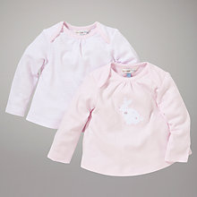 Buy John Lewis Baby Layette Top, Pack of 2, Pink Online at johnlewis.com