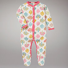 Buy Organics For Kids Tree Print Sleepsuit, Multi Online at johnlewis.com