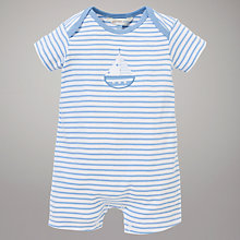 Buy John Lewis Baby Layette Boat Romper, Blue/White Online at johnlewis.com