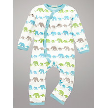 Buy Organics for Kids Elephant Romper, Cream/Multi Online at johnlewis.com