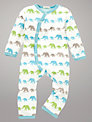 Pigeon Elephant Romper, Cream/Multi