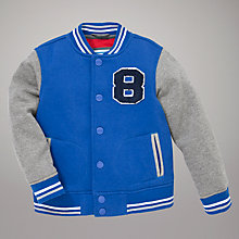Buy John Lewis Baseball Jacket, Blue Online at johnlewis.com
