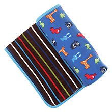 Buy Polarn O. Pyret Newborn Baby Blanket, Blue/Multi Online at johnlewis.com