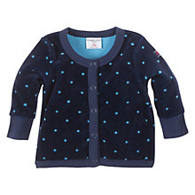 Buy Polarn O. Pyret Velour Star Cardigan, Indigo Online at johnlewis.com