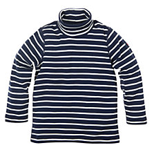 Buy Polarn O. Pyret Striped Long Sleeve Top, Indigo Online at johnlewis.com