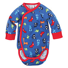 Buy Polarn O. Pyret Wraparound Animal Parade Bodysuit, Morning Blue Online at johnlewis.com
